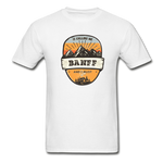 Banff Is Calling - Adult Tagless T-Shirt - white