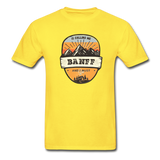 Banff Is Calling - Adult Tagless T-Shirt - yellow