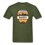 Banff Is Calling - Adult Tagless T-Shirt - military green