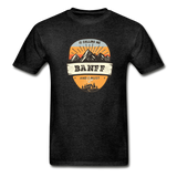 Banff Is Calling - Adult Tagless T-Shirt - charcoal gray