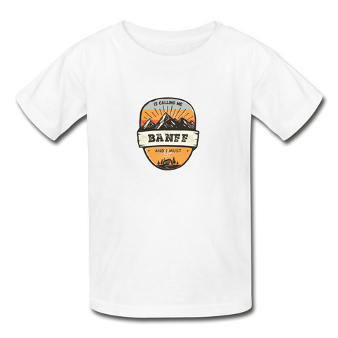 Banff Is Calling -Youth Tagless T-Shirt - white