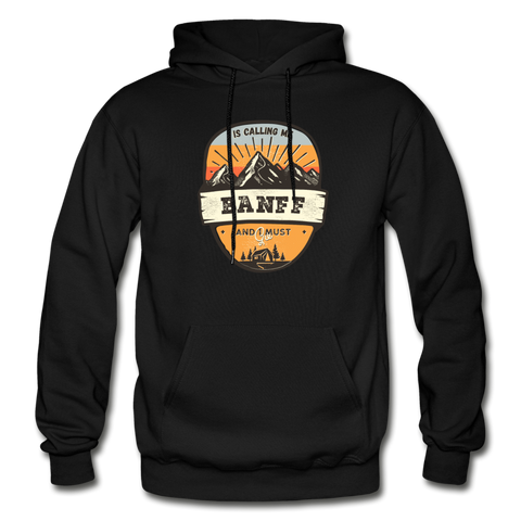 Banff Is Calling - Heavy Blend Adult Hoodie - black