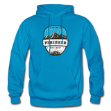 Perisher Is Calling - Heavy Blend Adult Hoodie - turquoise