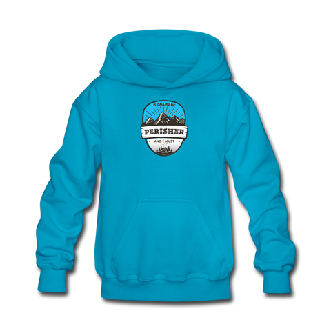 Perisher Is Calling - Kids' Hoodie - turquoise