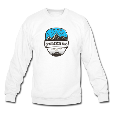 Perisher Is Calling - Crewneck Sweatshirt - white