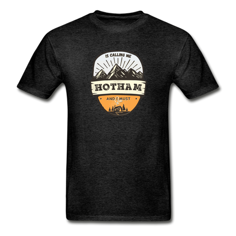 Hotham Is Calling -  Adult Tagless T-Shirt - charcoal gray