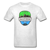 Falls Creek Is Calling -  Adult Tagless T-Shirt - light heather gray