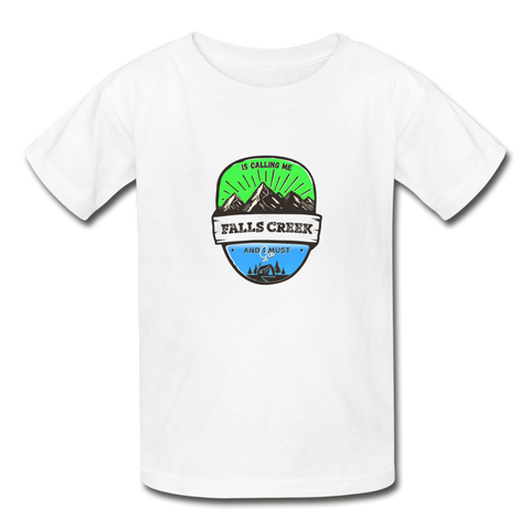 Falls Creek Is Calling - Youth Tagless T-Shirt - white