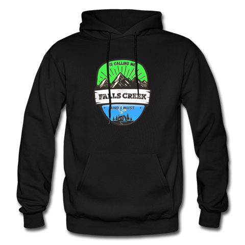 Falls Creek Is Calling - Heavy Blend Adult Hoodie - black