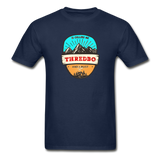 Thredbo Is Calling - Adult Tagless T-Shirt - navy