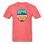 Thredbo Is Calling - Adult Tagless T-Shirt - coral