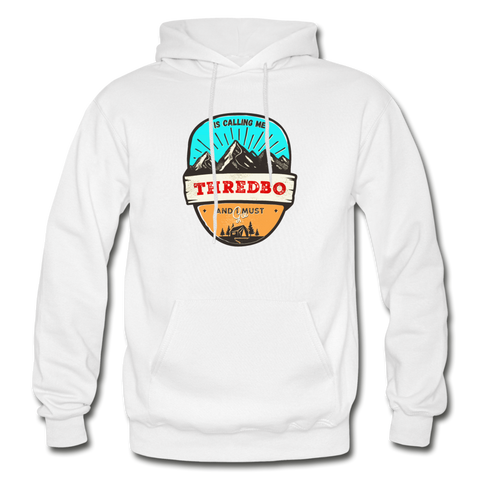 Thredbo Is Calling - Heavy Blend Adult Hoodie - white