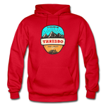 Thredbo Is Calling - Heavy Blend Adult Hoodie - red