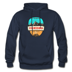 Thredbo Is Calling - Heavy Blend Adult Hoodie - navy