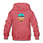 Thredbo Is Calling - Heavy Blend Youth Hoodie - heather red