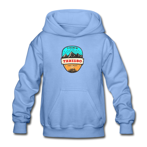 Thredbo Is Calling - Heavy Blend Youth Hoodie - carolina blue