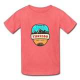 Thredbo Is Calling - Youth Tagless T-Shirt - coral