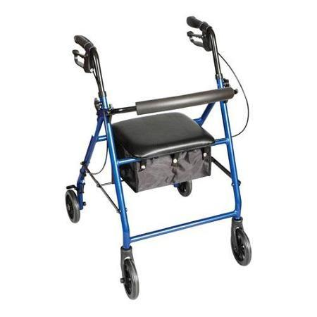 Carex 4-Wheel Rollator Walker