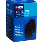 Carex Black Cane Tips 2-Pack