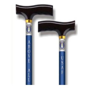 Straight Adjustable Aluminum Cane - Air Force