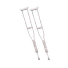 Walking Crutches with Underarm Pad & Handgrip - Adult