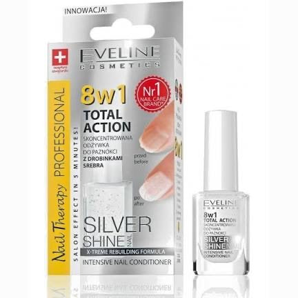 Eveline 8 in 1 Total Action Silver Shine Nails