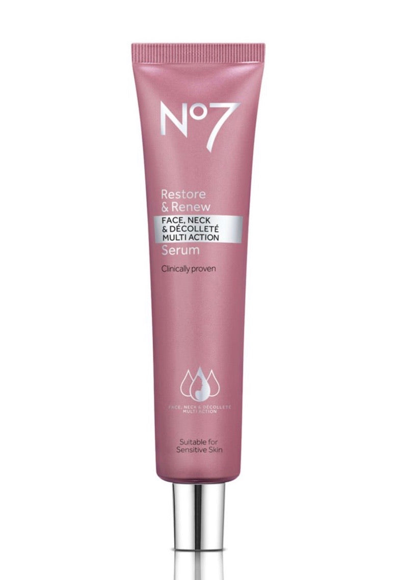 No7 Restore & Renew Face & Neck Serum 75ml