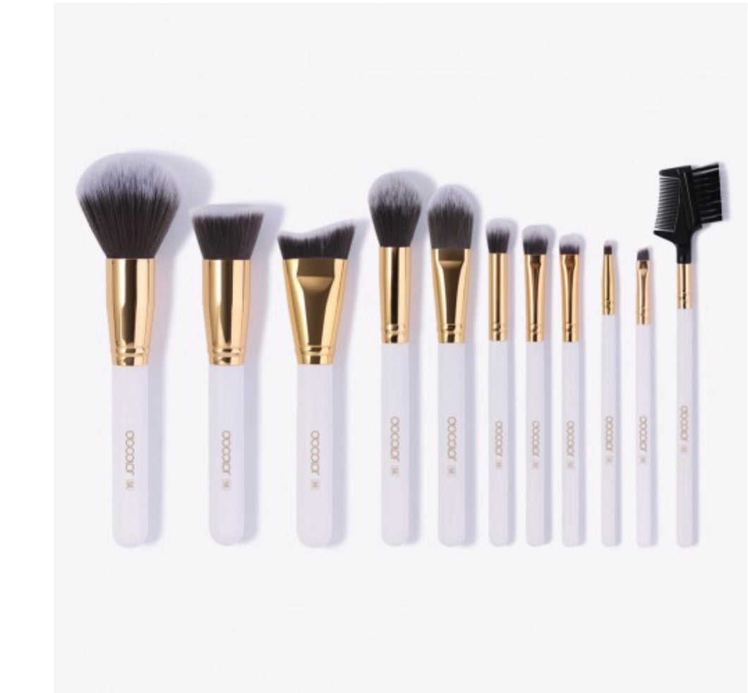 Docolor 11 PC White Makeup Brush Set