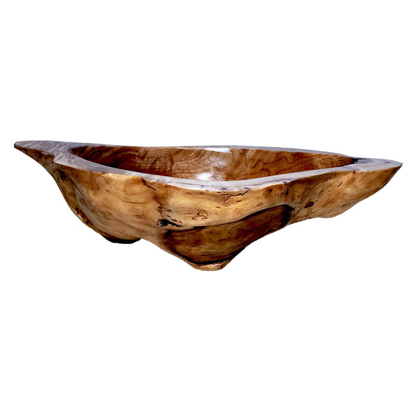 Burl Bowl with Resin