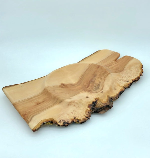 Modern Natural Wide Applewood Dish