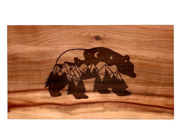 Arbutus Mountain Night Bear Art Charcuterie Board