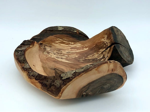 Rustic Applewood Decorative Bowl