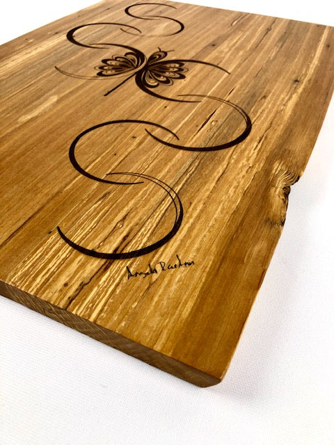 Flight of Passion Wall Art on Spalted Alder
