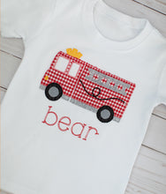 Load image into Gallery viewer, Firetruck Applique Shirt