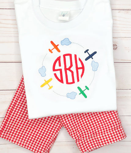 Monogram Airplane Outfit