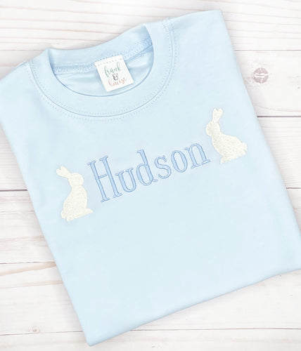 Blue Bunny Name Shirt