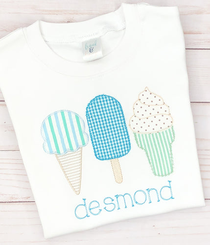 Blue Ice Cream Trio Shirt