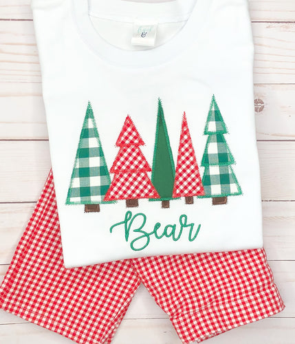 Christmas Tree Forest Pants Set