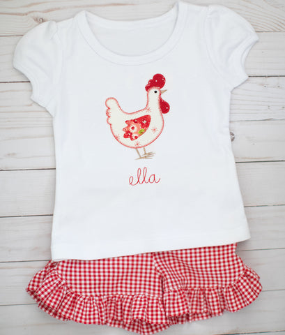 Red Gingham Chicken Outfit