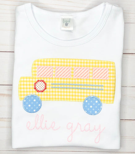 Back to School Pink Bus Shirt