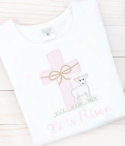 Pink Cross & Lamb Shirt