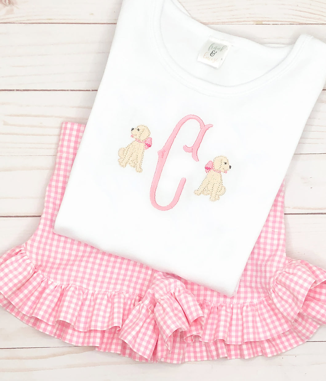 Pink Bow Dog Set