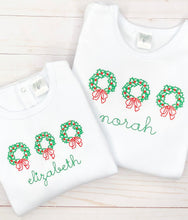 Load image into Gallery viewer, Simple Wreath Trio Shirt