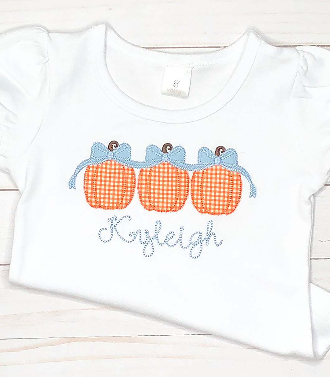 Girls Pumpkin Trio Shirt