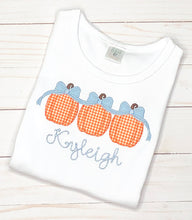 Load image into Gallery viewer, Girls Pumpkin Trio Shirt
