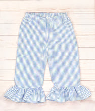 Load image into Gallery viewer, Periwinkle Scallop Monogram Pants Set