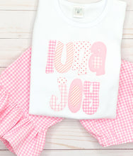 Load image into Gallery viewer, Pink Applique Name Pants Set