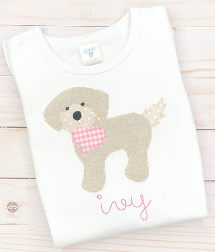 Pink Heart Puppy Shirt