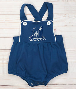 Navy Boys Sunsuit