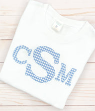 Load image into Gallery viewer, Boy Monogram Appliqué Shirt